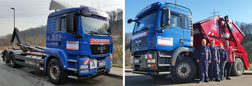 Lindenberger-Containerservice und das Team